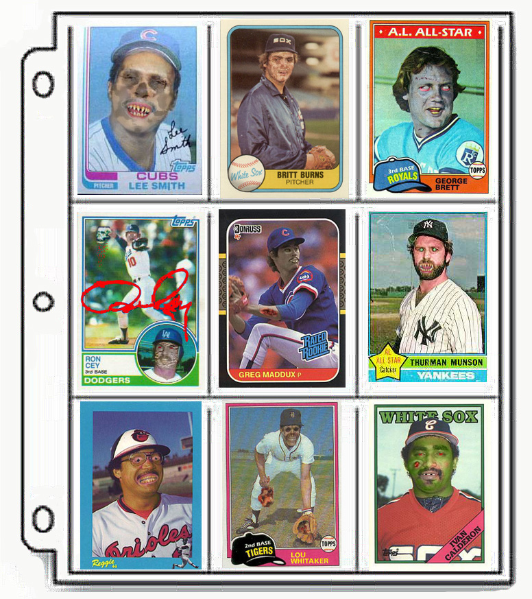 Zombie baseball cards - collect 'em all